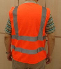 Safety vest red back view 200