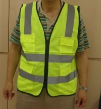 Safety vest yellow front view 200