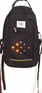 executive backpack with LED turning signal light left-light