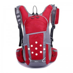 hydrated backpack red led light turning signal front