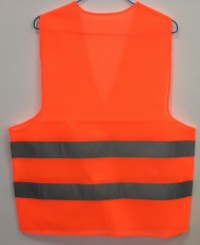 low cost safety vest back view red 200