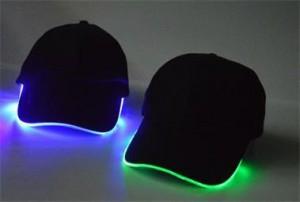 Cap hat with light belt