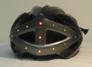 LED light turning signal bike helmet back 500