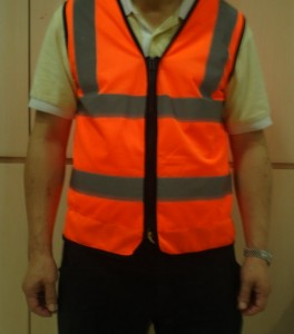 LED light turning signal safety vest front view