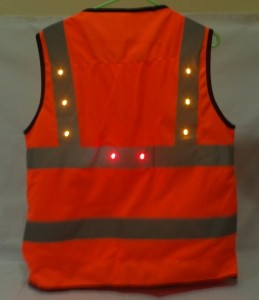 LED light turning signal safety vest left all