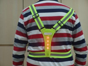 LED light safety sporty vest back