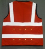 Safety vest red LED light 150