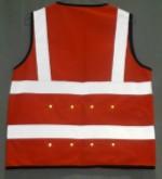 Safety vest red LED light 150