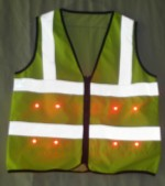 Safety vest yellow LED light 150